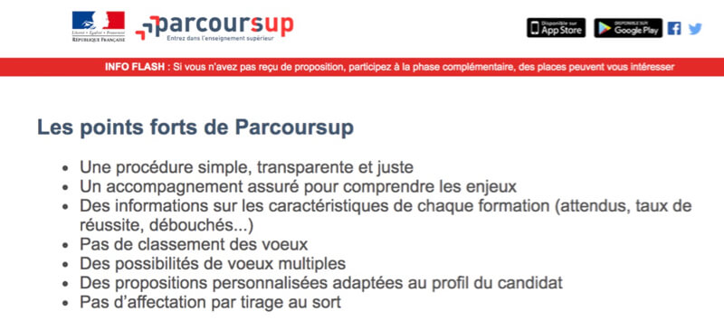 points forts de parcoursup