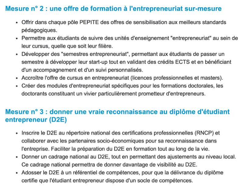 diplôme étudiant entrepreneur