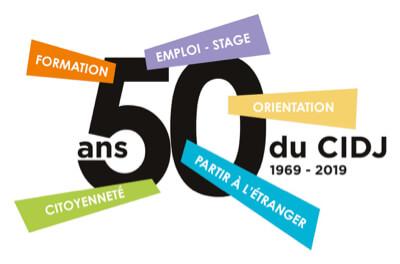 logo des 50 ans du cidj