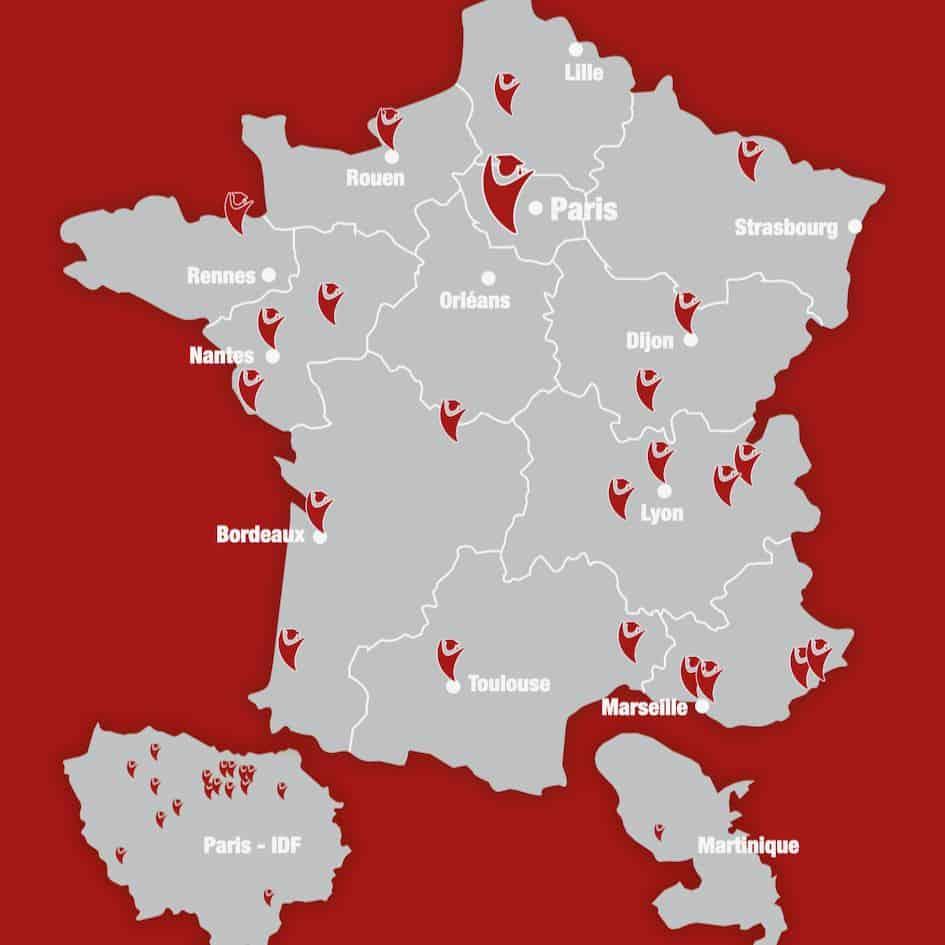 carte de france réseau tonavenir